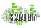 Word Cloud Scalability — Stock fotografie