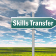 Signpost Skills Transfer — Stock Photo