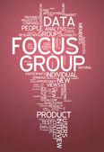Word Cloud Focus Group — Stock fotografie