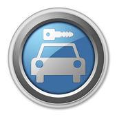 Icon, Button, Pictogram Car Rental — Foto Stock