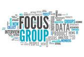 Word Cloud Focus Group — Stock Photo