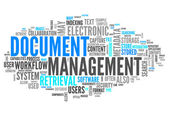 Word Cloud Document Management — Stockfoto