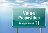 Highway Signpost Value Proposition — Stock Photo