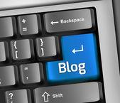 Keyboard Illustration Blog — Stock Photo