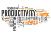 Word Cloud Productivity — ストック写真