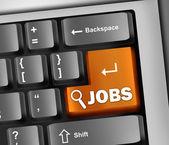 Keyboard Illustration Jobs — Stock Photo