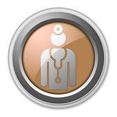 Icon, Button, Pictogram Physician — Stock Photo