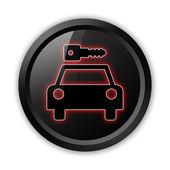 Icon, Button, Pictogram Car Rental — Stock Photo