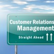 Highway Signpost Customer Relationship Management — Stock Photo #43527851