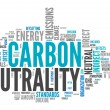 Word Cloud Carbon Neutrality — Stock Photo