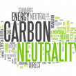 Word Cloud Carbon Neutrality — Stock Photo #43527947