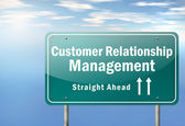 Highway Signpost Customer Relationship Management — Stock Photo