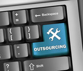 Keyboard Illustration Outsourcing — Stock Photo
