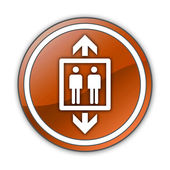 Ikon, knapp, piktogram hiss — Stockfoto