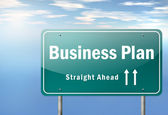 Highway Signpost Business Plan — Stock Photo