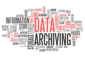 Word Cloud Data Archiving — Stock Photo