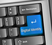 Keyboard Illustration Digital Identity — Stockfoto