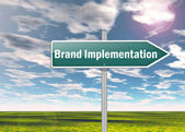 Signpost Brand Implementation — Stock Photo