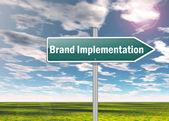 Signpost Brand Implementation — Stock Photo