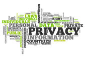 Word Cloud Privacy — Stock Photo