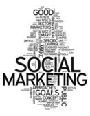 Word Cloud Social Marketing — Stock Photo
