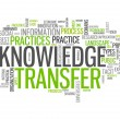 Word Cloud Knowledge Transfer — Stock Photo #43746255