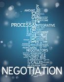 Word Cloud Negotiation — Stock Photo