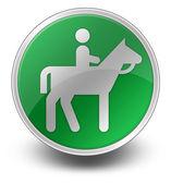 ícone, botão, pictograma cavalo-trail — Fotografia Stock