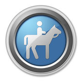 Icon, Button, Pictogram Horse Trail — Stock Photo