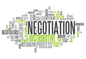 Word Cloud Negotiation — Stock Photo