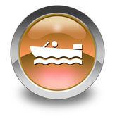 Icône, bouton, bateau à moteur de pictogramme — Photo