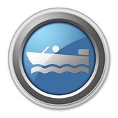 Icon, Button, Pictogram Motorboat — Stock Photo