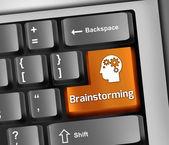 Keyboard Illustration Brainstorming — Stock Photo
