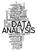 Word Cloud Data Analysis — Stock Photo