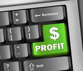 Keyboard Illustration Profit — Stock Photo