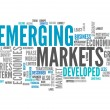Word Cloud Emerging Markets — Stock Photo #44098995