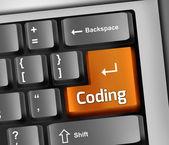 Keyboard Illustration Coding — Stock Photo