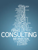 Word Cloud Consulting — Stock Photo