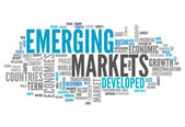 Word Cloud Emerging Markets — Stock Photo