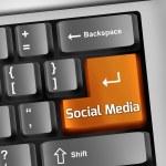 Keyboard Illustration Social Media — Stock Photo #44226471