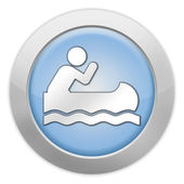 Icon, Button, Pictogram Canoeing — Stock Photo