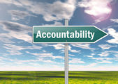 Signpost Accountability — Stock Photo