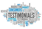 Word Cloud Testimonials — Stock Photo