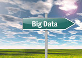 Signpost Big Data — Stock Photo