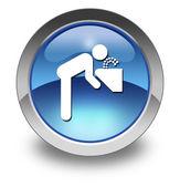 Ikona przycisku, piktogram fontanna — Zdjęcie stockowe