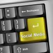 Keyboard Illustration Social Media — Stock Photo #44455221