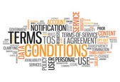 Word Cloud Terms and Conditions — Stock Photo