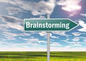 Signpost Brainstorming — Stock Photo
