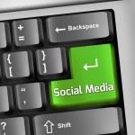 Keyboard Illustration Social Media — Stock Photo #44848705