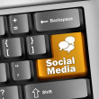 Keyboard Illustration Social Media — Stock Photo #44956885